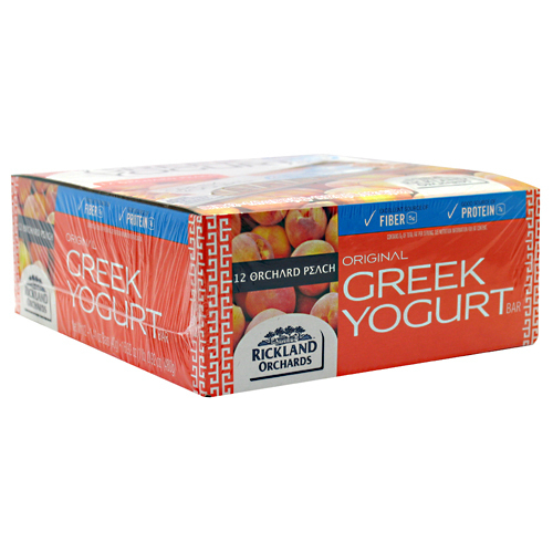 RICKLAND ORCHARDS: GREEK YOGURT BAR PEACH 12/BX 12 per box