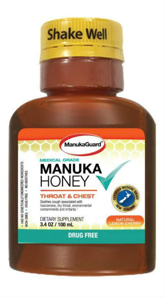 MANUKAGUARD: Medical Grade Manuka Cough & Throat Syrup 3.4 ounce