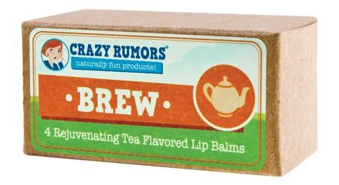 CRAZY RUMORS: Brew Tea Flavored Lip Balm Gift Set 4 pc