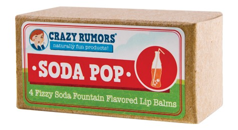 CRAZY RUMORS: Soda Pop Soda Fountain Flavored Lip Balm Gift Set 4 pc