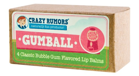 CRAZY RUMORS: Gumball Bubble Gum Candy Flavored Lip Balm Gift Set 4 pc