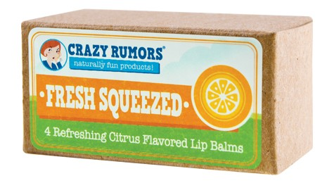 CRAZY RUMORS: Fresh Squeezed Citrus Lip Balm Gift Set 4 pc