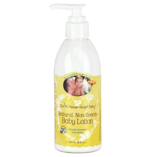 EARTH MAMA ANGEL BABY: Baby Lotion Natural Non-Scents 8 oz