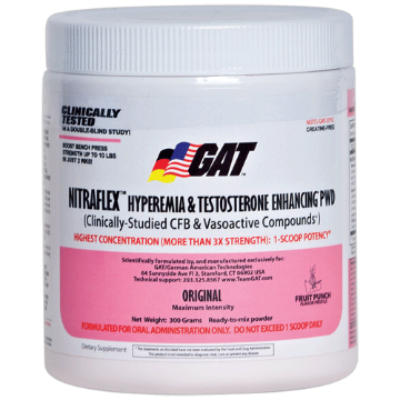 GERMAN AMERICAN TECHNOLOGIES: NITRAFLEX FRUIT PUNCH 300 Gram