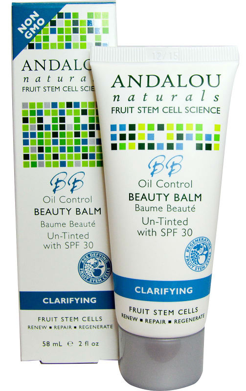 ANDALOU NATURALS: Oil Control Beauty Balm Un-Tinted with SPF30 2 oz