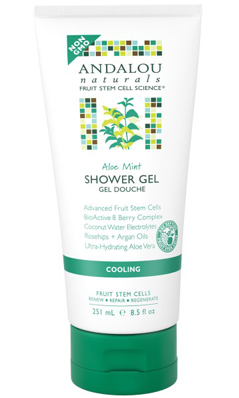 Aloe Mint Shower Gel 8.5 oz from Andalou Naturals