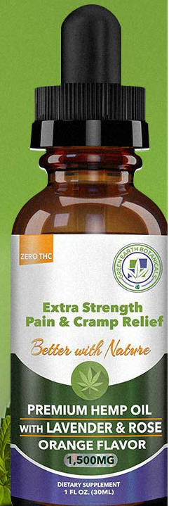 CBD Oil 1500Mg Extra Strength W/Lavender & Rose-Orange 2.9 ounce from GREEN EARTH BOTANICALS