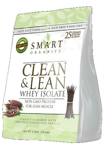 SMART ORGANICS: Clean & Lean Whey Isolate 798 gm