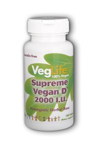 Veglife: Supreme Vegan D 2000IU 100 ct
