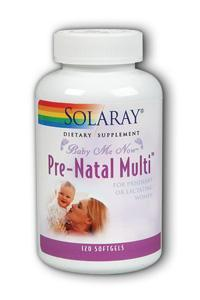 Solaray: Baby-Me-Now Prenatal Multi 120 Sg