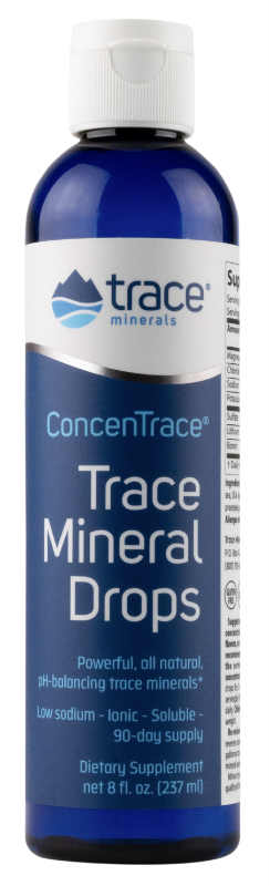 Low Sodium ConcenTrace Trace Mineral Drops, 8 fl.oz.