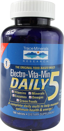 Trace Minerals Research: Electro-Vitamin-Mineral Reduced Iron cal citrate 180 tabs