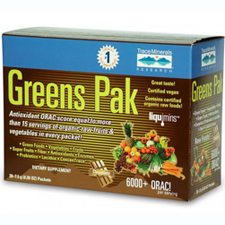 Trace Minerals Research: Greens Pak To Go Chocolate 30 paks