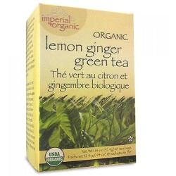 UNCLE LEE'S TEA: 100 Percent Imperial Organic Lemon Ginger Green Tea 18 bag