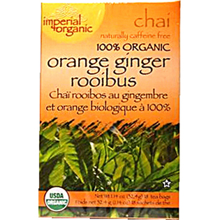 UNCLE LEE'S TEA: 100 Percent Imperial Organic Orange Ginger Rooibos Chai Tea 18 bag