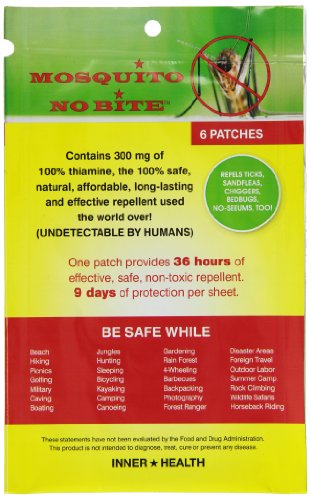 Natural Mosquito Repellent Patch 6 pc from Inner Health