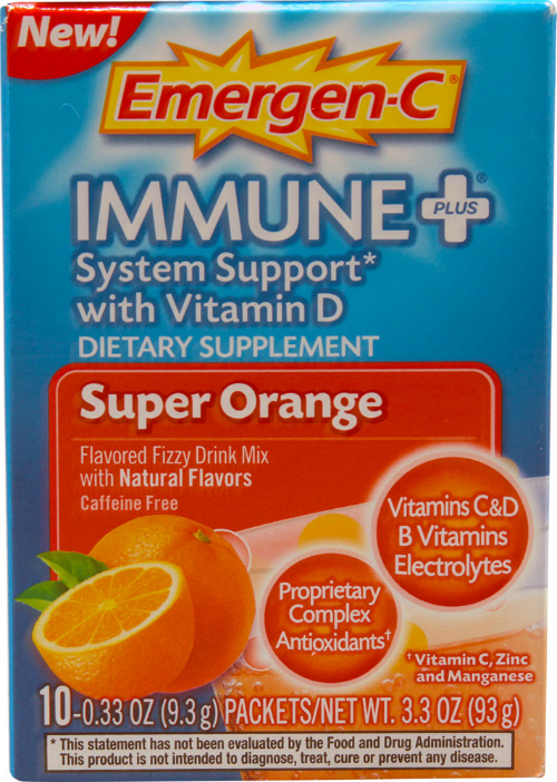 ALACER: Emergen-C Immune + Super Orange 10 ct