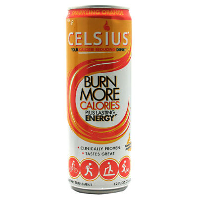 CELSIUS: CELSIUS ORANGE 12oz 12/CASE