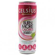 CELSIUS: CELSIUS GREEN TEA RASPBERRY/ACAI 12 OZ/12 CS
