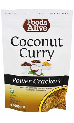 Organic Coconut Curry Crackers