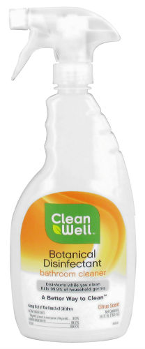 Botanical Disinfectant Bathroom Cleaner 26 Oz From Cleanwell Company Inc
