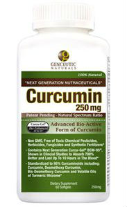GENCEUTICS: Natural Curcumin BCM-95 250 mg 60 softgel