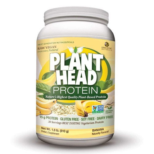 NATURE'S ANSWER: Plant Head Protein Banana Flavor 1.8 lb