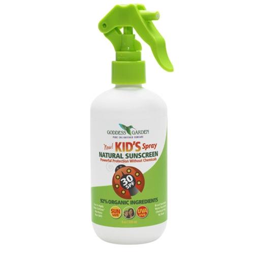Kid 39 S Natural Sunscreen Spray Spf30 8 Oz From Goddess Garden