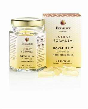 Royal Jelly Energy Formula 30 capsules from BEE ALIVE