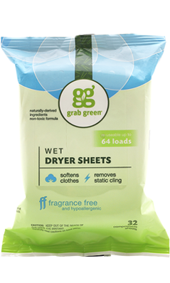 Wet Dryer Sheets 32 ct from Grab Green