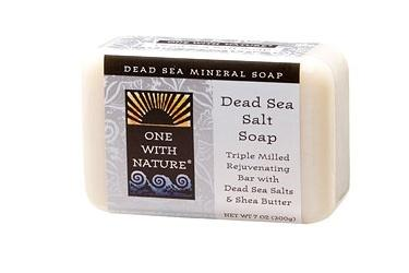 ONE WITH NATURE: Dead Sea Salt Bar Soap 7 oz