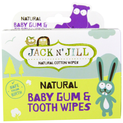 JACK N' JILL: Natural Baby Gum & Tooth Wipes 25 ct