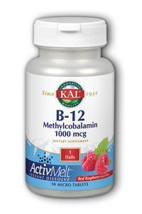 KAL: Active Melt B-12  1000mcg Raspberry 90 Loz
