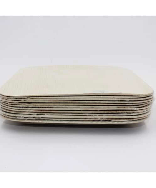 ECOSOULIFE: Palm Leaf-Square Plate 10' Natural 10 ct