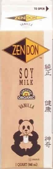 Zen Soy: Soymilk organic vanilla 32 OZ