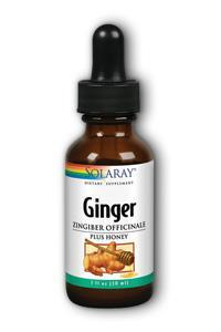 Solaray: Ginger Plus Honey 1 fl oz