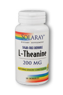 Solaray: L-Theanine Chewable 30 Chw LemonLime 200mg