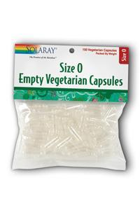 Solaray: Empty Veg Caps Size 0 12ea x 100ct