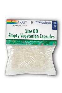 Solaray: Empty Veg Caps Size 00 12ea x 100ct
