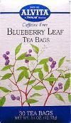 Alvita teas: Blueberry leaf tea 30 bags