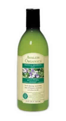 AVALON ORGANIC BOTANICALS: Bath & Shower Gel Organic Rosemary 12 fl oz
