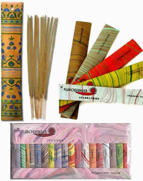 Auroshikha Candles and Incense: Incense 18 Fragrance Sampler 18 pc