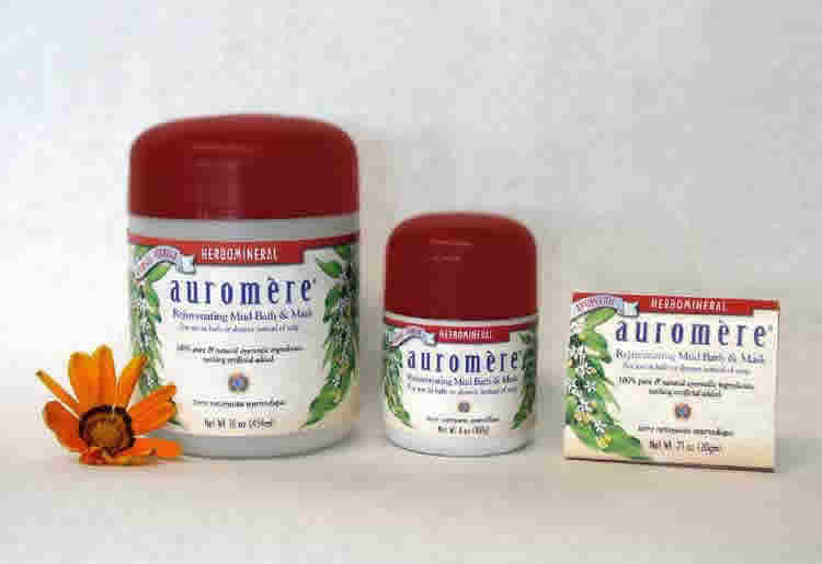 AUROMERE: Ayurvedic Herbomineral Mudbath Powder 4 oz
