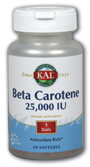 Kal: Beta-Carotene 50ct 25000iu
