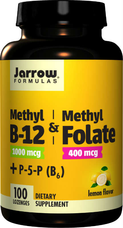 Methyl B-12 & Methyl Folate Plus P-5-P (B6), 100 Loz Lemon Flavor