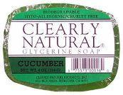 CLEARLY NATURAL: Clearly Natural Glycerine Bar Soaps Cucumber 4 oz