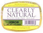 CLEARLY NATURAL: Clearly Natural Glycerine Bar Soaps Lemon 4 oz