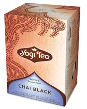 YOGI TEAS/GOLDEN TEMPLE TEA CO: Black Chai Tea 16 bags