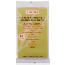 EMERITA: Feminine Cleansing and Moisturizing Cloths Travel Size 6 PACK