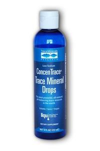 Trace Minerals Research: Low Sodium ConcenTrace Trace Mineral Drops 8 fl.oz.